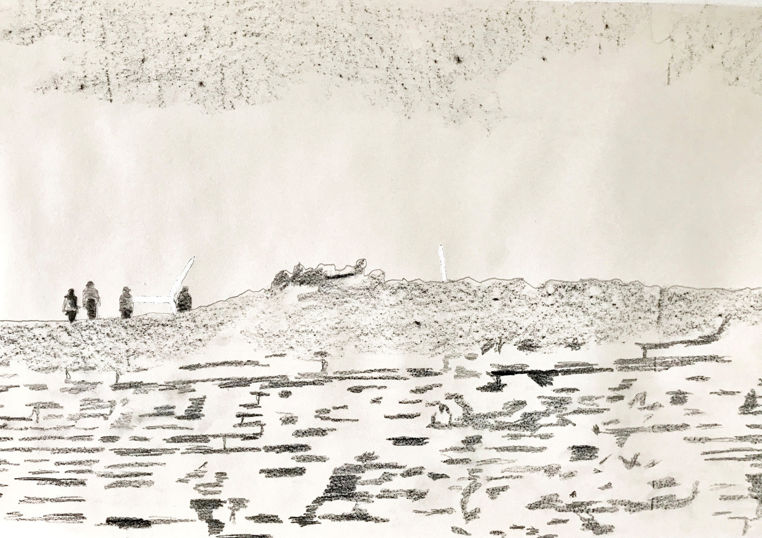 Socially Distanced:  Cliff top  Maggie James