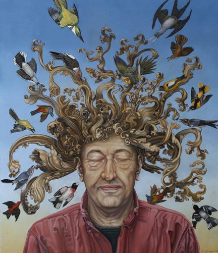 Self Portrait Mocked by Birds