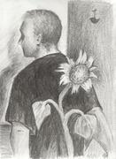 Man & Sunflower