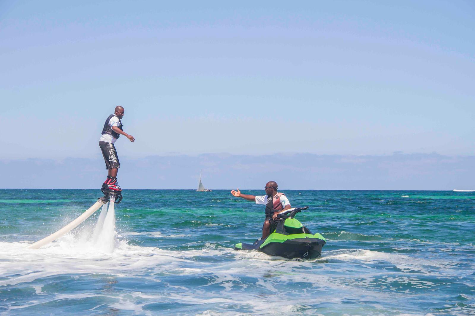 flyboarding diani beach