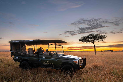 Elewana Sand River Game drive at sunrise
