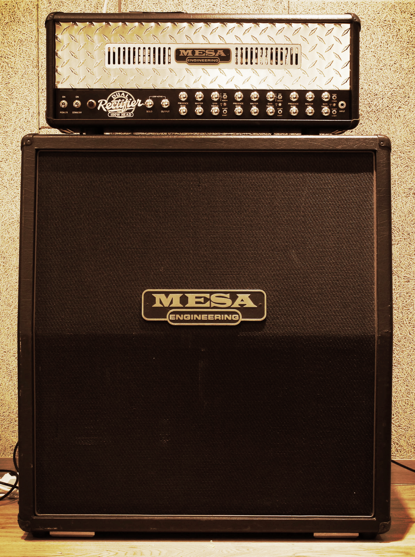 A room Guitar amp