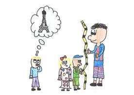 Alle Kinder sind gleich gross. Ausser Peter – der ist 2 Meter.