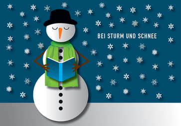 Bei Sturm und Schnee