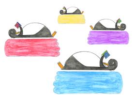 Pinguine und Wolken