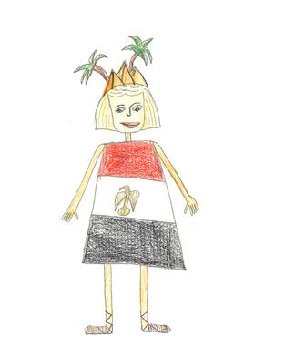 Alexandria hat zu ihrem 12. Geburtstag ein kleines Ruderboot bekommen und eine kleine geheime Insel entdeckt. Dort gibt es eine minikleine Pyramide. Das ist ihre kleine Welt, nur für sich. Jeden Freitag rudert sie zu der geheimen Insel und malt den Sonnenuntergang. Auf dem Boot gibt es zwei Ruderbänke: Auf der einen sitzt Alexandria zum Rudern, auf der anderen Seite links ist ein langer Kerzenständer angebaut. Wenn es auf dem Rückweg dunkel ist, zündet sie die Kerze  an und spricht ein Gebet an die Götter (in Ägypten gibt es mehr als 1000). Dann fährt sie nach Hause.