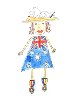 Adelaide lebt in Sidney: Es ist die grösste Stadt in Australien. Es ist besonders schön dort und an Weihnachten ist es so heiss, dass man am Strand feiern kann. Es gibt zwar keine echten Tannenbäume, aber Adelaide bastelt mit ihren Freunden einen riesigen Baum aus Pappe, Karton und Papier. Ihre Mutter ist Geigerin und ihr Vater spielt Kontrabass im Sydney Symphony Orchestra.  Adelaide kann sich noch erinnern, als sie noch im Bauch der Mutter war und schon so viel Musik gehört hat.