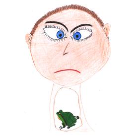 Einen Frosch im Hals haben