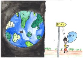 Alle Kinder reisen in alle Welt. Ausser John – der reist nach Bonn.