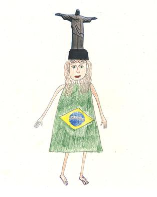 Copacabana ist sehr stolz, dass sie eine Brasilianerin ist, weil Brasilien ein sehr grosses und schönes Land ist. Sie spielt sehr gut Fussball, und weil die andere Mädchen lieber was anderes spielen, spielt sie am meistens mit den Jungs. Sie ist fast immer in ihren Lieblingsfarben angezogen: gelb, grün und blau. Copacabana besucht zweimal die Woche eine Schule die «Portela» heisst. Es ist ein Samba Schule und sie üben das ganze Jahr für den grössten Karneval der Welt.