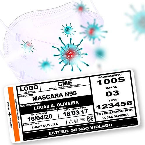 Etiqueta N95 para esterilização de máscara N95 em VPPH