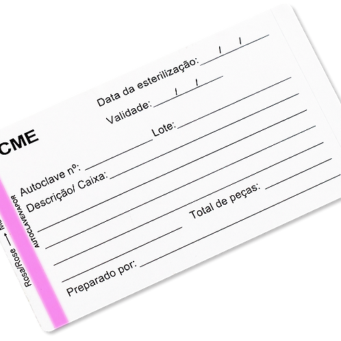 Etiqueta Dupla Camada Adesiva para Esterilização a Vapor