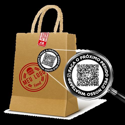 Etiqueta QR CODE para Delivery