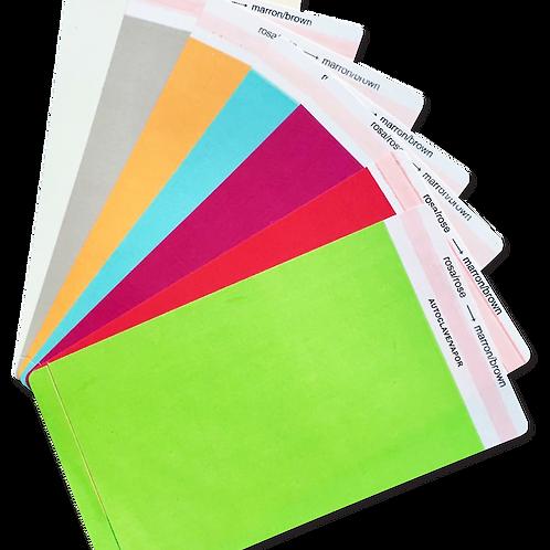 Etiqueta Colorida Dupla Camada Adesiva para Esterilização