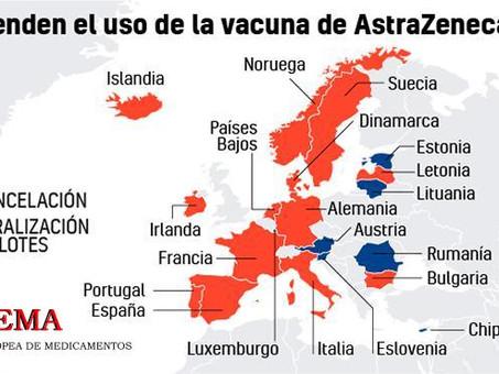 En España será suspendido el proceso de vacunación con AstraZeneca durante dos semanas