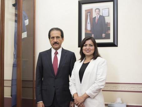 Rector de la BUAP felicita a Claudia Rivera por su informe de labores