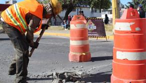 Con 20 cuadrillas, Ayuntamiento de Puebla mantiene atención al bacheo en la ciudad