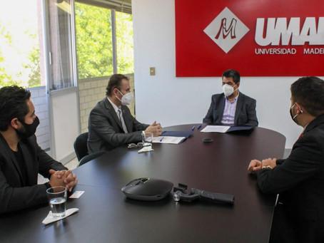 Firma IMACP convenio con Universidad Madero para programas de colaboración juvenil