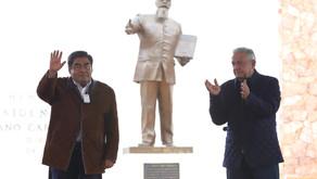 MANIFIESTA BARBOSA HUERTA A AMLO RESPALDO DE PUEBLA PARA CONTINUAR CON LA CONSTRUCCIÓN DE LA 4T