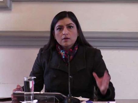 Desatino de diputados, la eliminación del DAP: Claudia Rivera