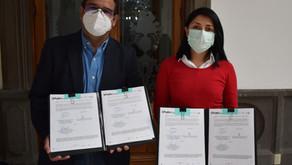 Firman Ayuntamiento de Puebla y la CMIC convenio de colaboración en apoyo a personas migrantes pobla