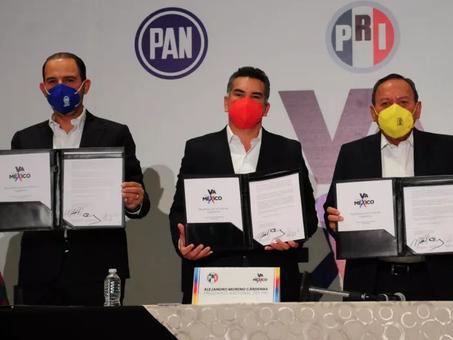 PAN Y PRD DESCONFÍAN DE LA LEALTAD DEL PRI EN SU ALIANZA