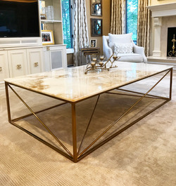 Powder coated table frame