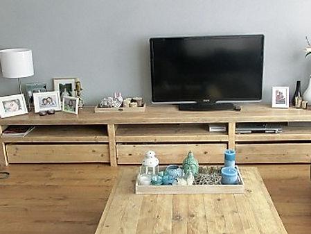 Steigerhout Tv Kast : Steigerhout tv meubel maatwerk hout van ons