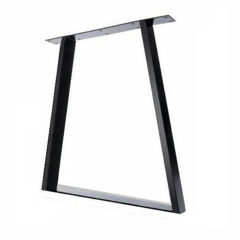Metalen trapeze-frame-onderstel-tafel