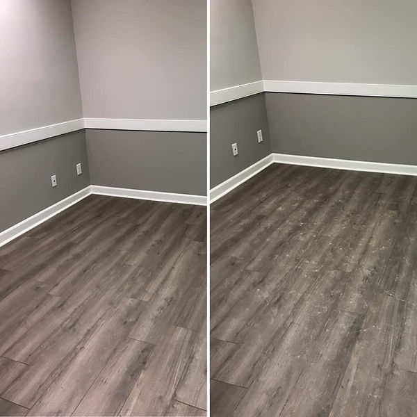 Laminate Floor before and after