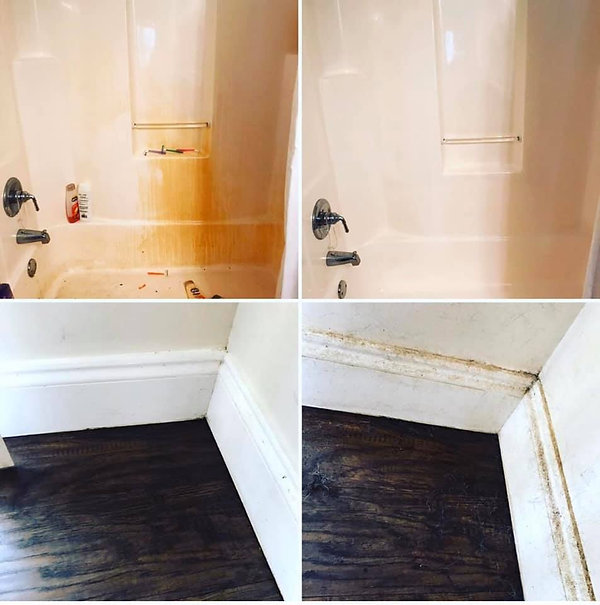 Shower and Floor before and after