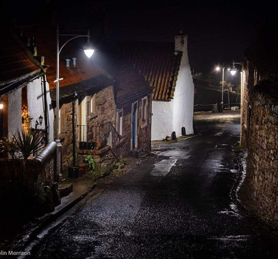 Harbour Brae at Night by Colin Morrison