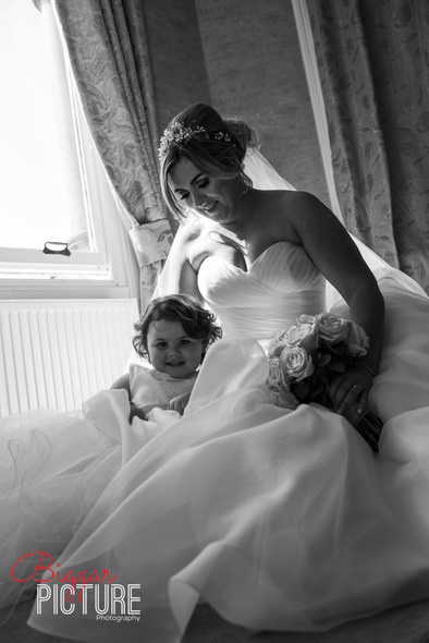 Bride and Daughter on Wedding