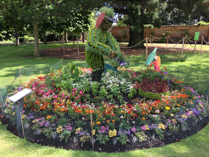 The BFG has come to Blackmore Gardens by the Conservatory.