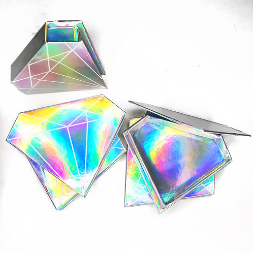 Holographic Diamond Lash Boxes