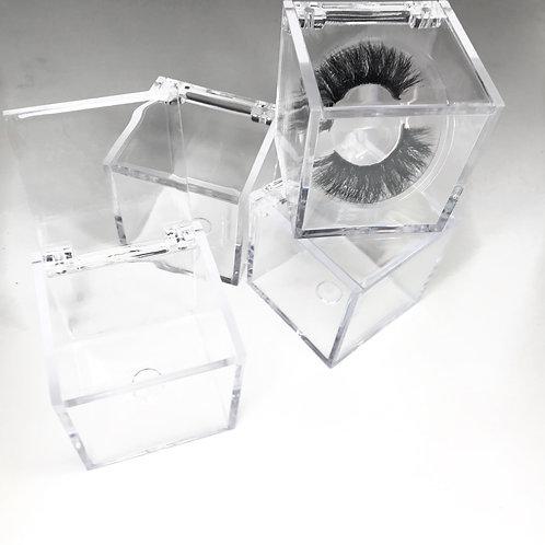 Clear Cube Lash Boxes