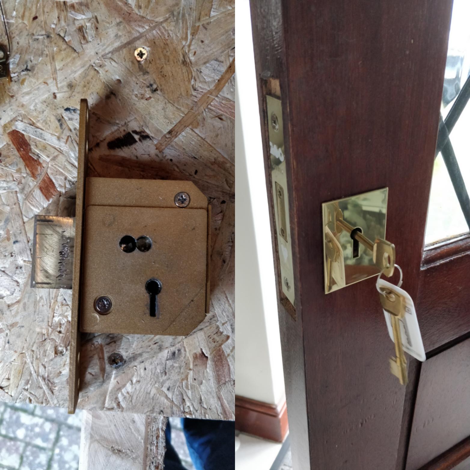 Jammed lock Biggleswade
