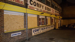 Boarding up in North London