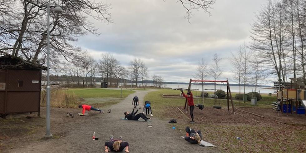 Lunchträning fredagar Strandbadet Tyresö Strand start 15/1