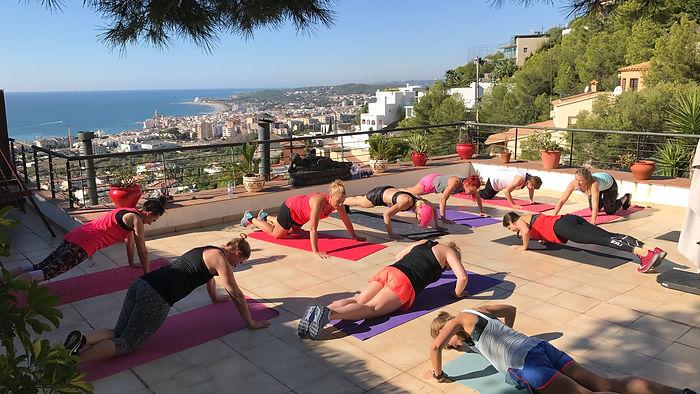 Träningsresa Sitges, träning i solen i spanien