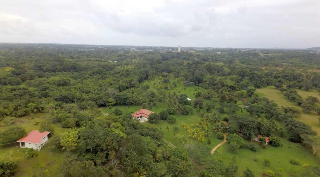Hilltop and view of Belmopan
