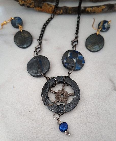 Rugged Steampunk Necklace set
