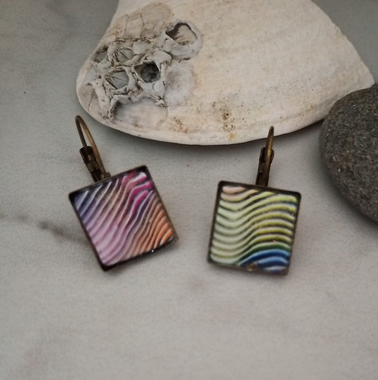 Rainbow Wave Earrings