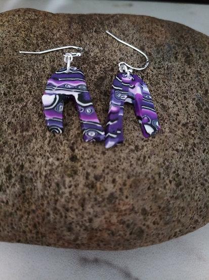 Violet Skies U Earrings #1