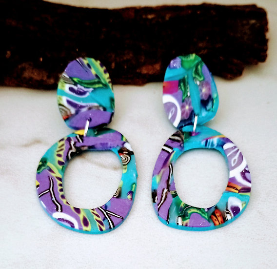 Tropical Paradise Round-ish Earrings #1