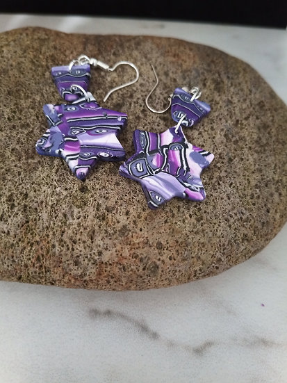 Star of David Violet Skies Earrings