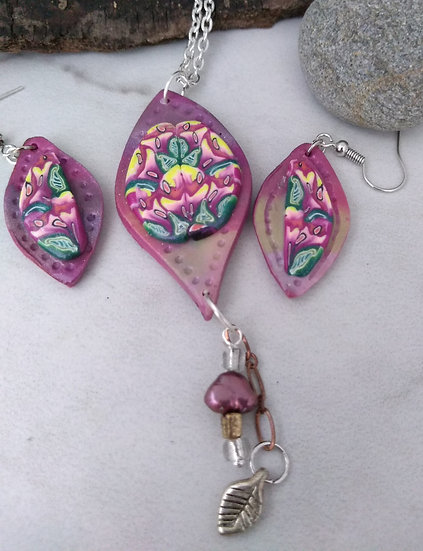 Las Flores de Diego Rivera Necklace set