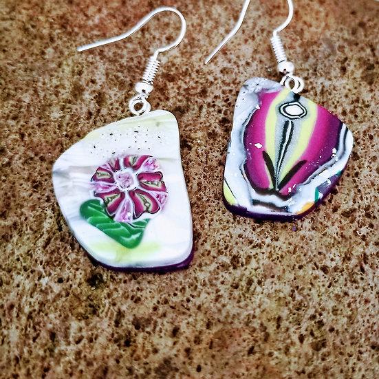 Match Made in Heaven (Fuchsia Flower) Earrings