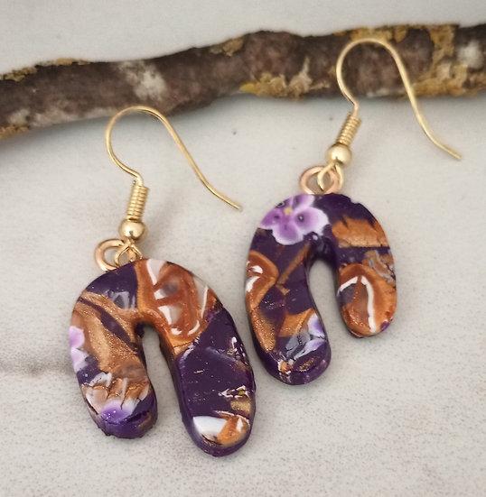 Golden Royalty Asymmetrical Earrings