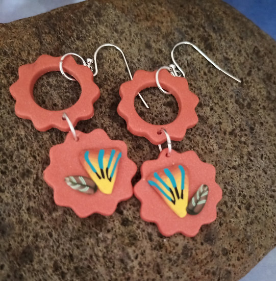 Arizona  Vibes  Flower Earring set #1